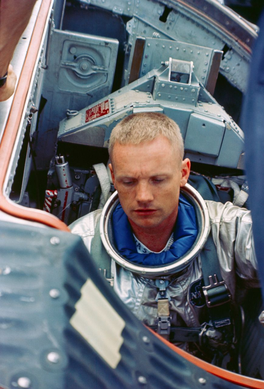 Neil Armstrong's photo legacy: Rare views of first man on ... |Neil Armstrong Suit Badge